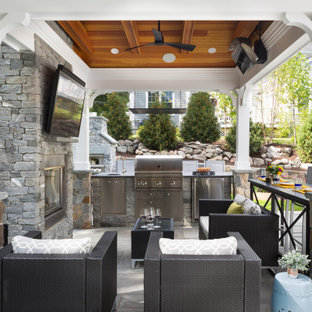 Outdoor Living Space with Kitchen