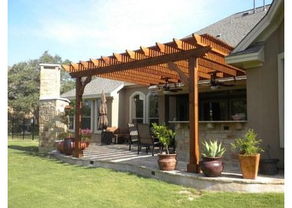 Traditional Patio Outdoor living spaces