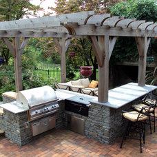 Traditional Patio by Wallace Landscape Associates