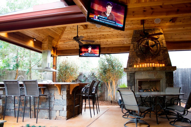 Patio ideas for Rustic covered decks