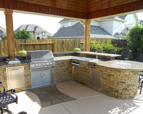L-Shaped Outdoor Kitchen Ideas, Pictures, Remodel and Decor
