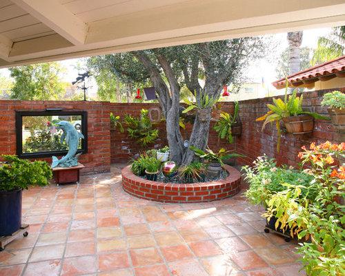 Mediterranean Courtyard Patio Idea In Orange County