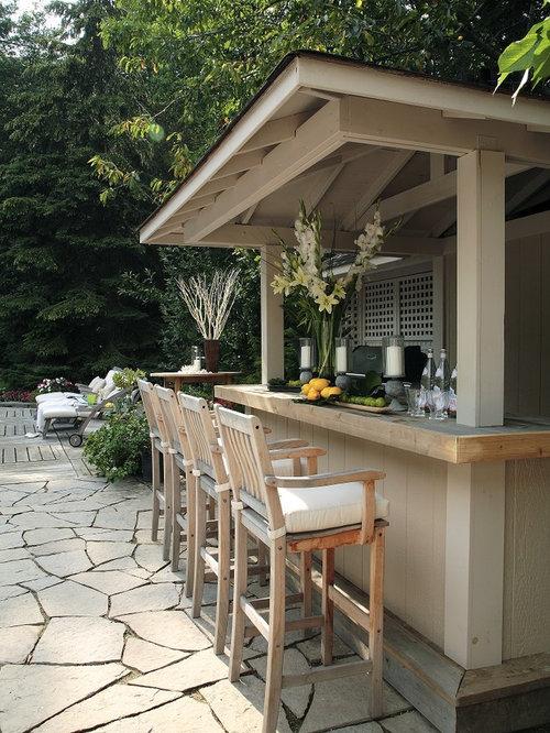 Traditional Backyard Patio Idea In Toronto With A Gazebo