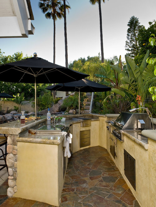 Outdoor kitchen bar home design ideas pictures remodel and decor - Tropical outdoor kitchen designs ...