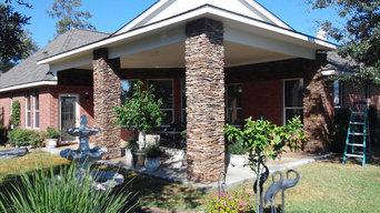 Outdoor Patio Cover Masonry Columns