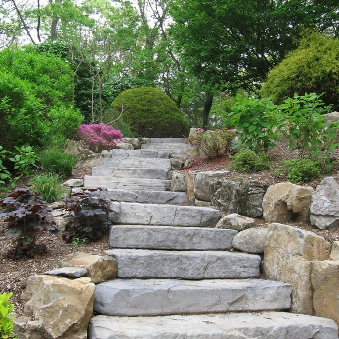 Retaining Walls, Garden Walkways & Sitting Walls By Designscapes Landscaping LI