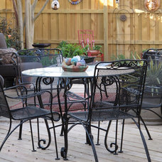 Eclectic Patio by Cozy Little House