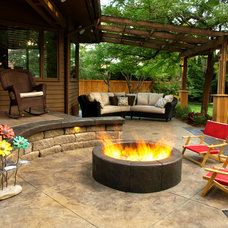 Contemporary Patio by Land Expressions LLC