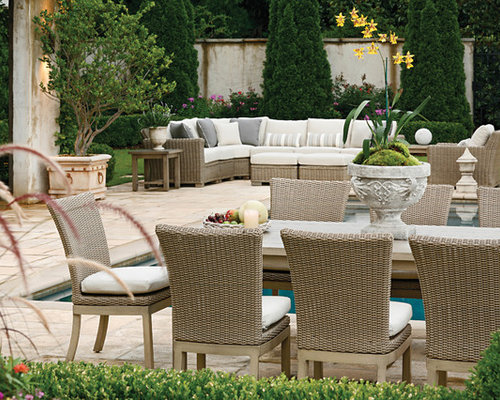 Resin wicker furniture home design ideas pictures for Traditional garden furniture