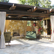 Traditional Patio by Designs by Dian Window Treatments