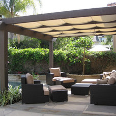 Contemporary Patio by Designs by Dian Window Treatments