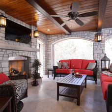 Transitional Patio by Kathleen Ramsey, Allied ASID
