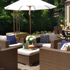 Beach Style Patio by Lisa Benbow - Garnish Designs