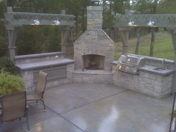 Traditional Patio by Akin Construction Co., LLC