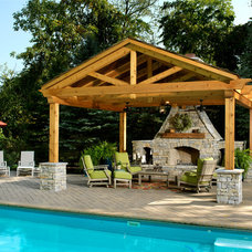 Traditional Patio by Albrecht Wood Interiors