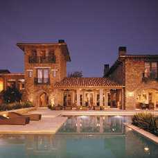 Mediterranean Patio by Christopher Homes