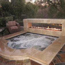Contemporary Patio by Colorado Custom Fireplace