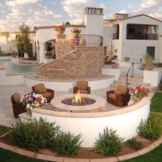 Mediterranean Patio by Eagle Luxury Properties