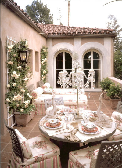 Mediterranean Patio by Joani Stewart-Georgi - Montana Ave. Interiors