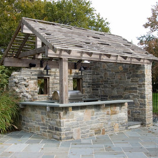 Example of a mountain style patio design in Philadelphia