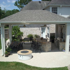 Contemporary Patio by Texas Custom Patios
