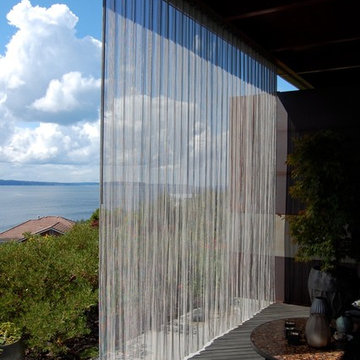 Outdoor stainless steel curtain