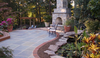 Outdoor Stone Fireplace w arched opening