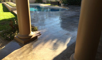 Outdoor Travertine Patio
