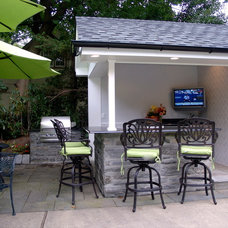 Eclectic Patio by World Wide Stereo