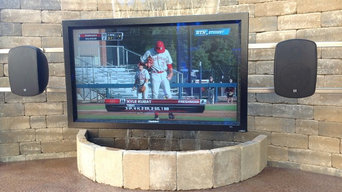 Outdoor TV with Waterfall