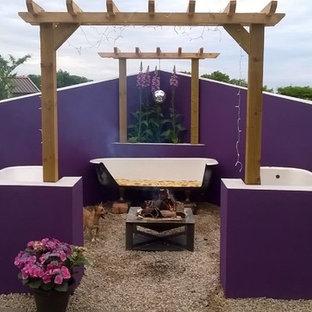 Foto di un patio o portico stile shabby di medie dimensioni