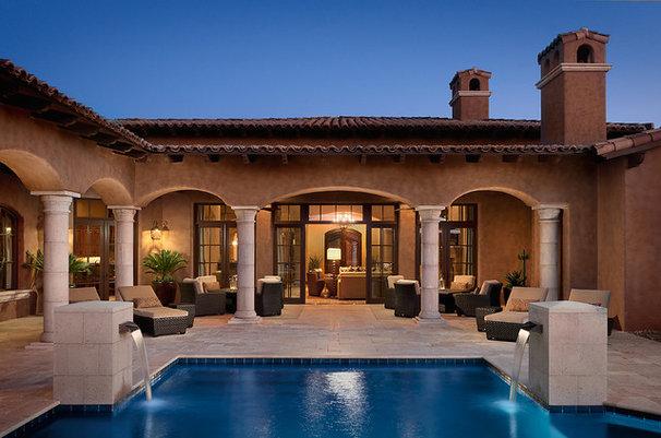 Mediterranean Patio by Ownby Design