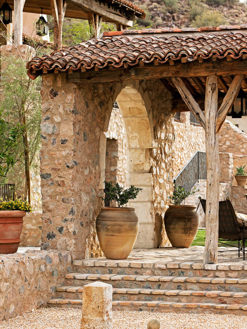 Old mexican clay bricks home design ideas pictures for Mexican porch designs