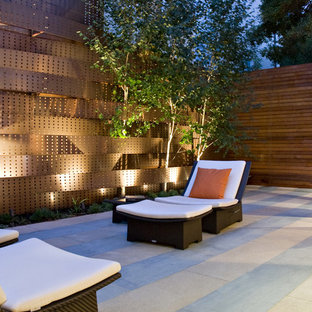 Inspiration for a small contemporary courtyard patio remodel in San Francisco