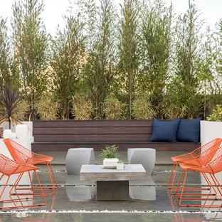 Foto di un patio o portico minimal con ghiaia