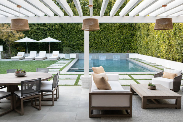 Transitional Patio by Chango & Co.