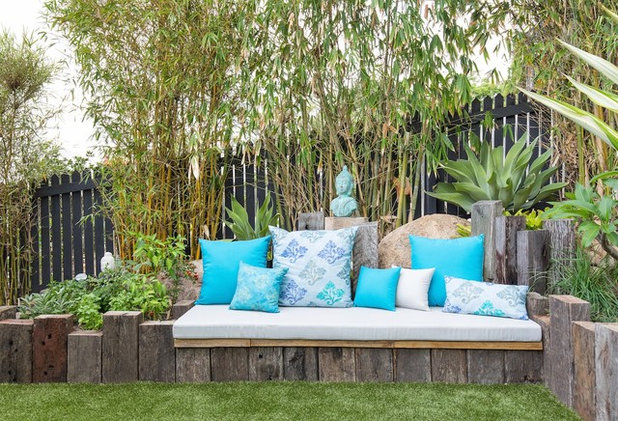 Eclectic Patio by The Small Garden