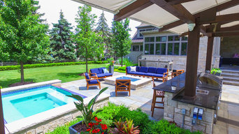 Palatine Spa, Fire Pit, Pergola and Outdoor Kitchen