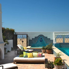 Mediterranean Patio by Chris Barrett Design