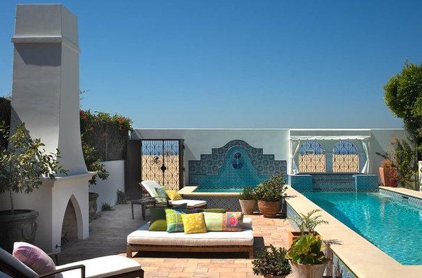 Mediterranean Patio by Chris Barrett Design