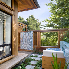 contemporary porch by Cathy Schwabe Architecture
