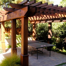 Eclectic Patio by Cathleen Hudson Landscapes