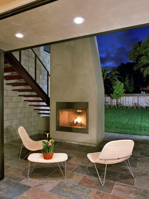 SaveEmail - Best Modern Outdoor Fireplaces Design Ideas & Remodel Pictures Houzz