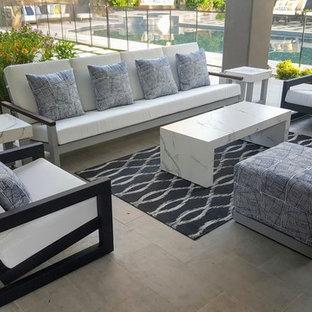 Idée de décoration pour une terrasse minimaliste.
