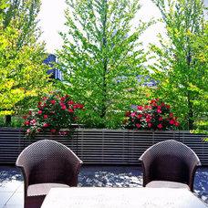 Contemporary Patio by Amber Freda NYC Garden Design