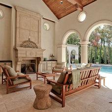 Mediterranean Patio by Jeff Salmon Design