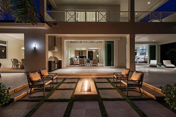 Tropical Patio by Milestone Development & Design