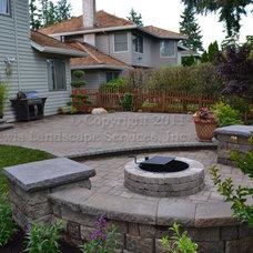 Contemporary Patio by Lewis Landscape Services, Inc.