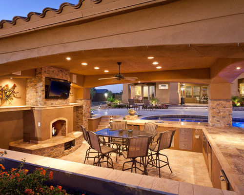 saveemail palo verde pools outdoor environments - Backyard Designs With Pool And Outdoor Kitchen