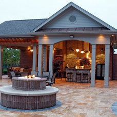 Contemporary Patio by Crawford Builders